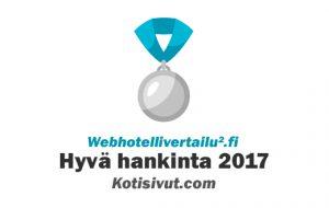 hyvä webhotell 2017 Kotisivut.com