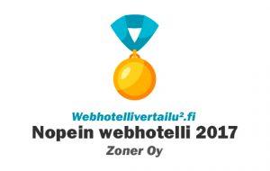 nopein webhotelli 2017 Zoner Oy